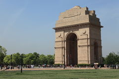 The India Gate in Delhi India Stock Photography
