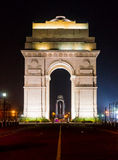 India gate Delhi at night Royalty Free Stock Photo