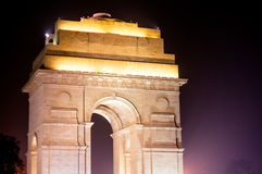 India Gate Delhi at night with lights Stock Photos