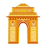 India Gate. Easy to edit vector illustration of India Gate in floral design Stock Photos