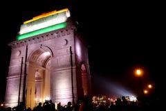 India Gate iconico nei precedenti immagine stock