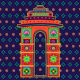 India Gate in Indian art style Royalty Free Stock Images