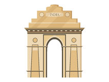 India gate isolation on a white background. Symbol of India, New Delhi. Illustration in a flat style. Stock Image