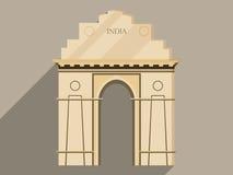 India gate isolation on a white background. Stock Images