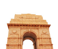 India Gate memorial in New Delhi, India. Isolated on white background Stock Image