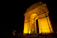 India Gate Memorial Night Moon Horizontal Royalty Free Stock Images