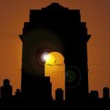 India gate, new delhi, india. View of india gate, new delhi, india Royalty Free Stock Photo