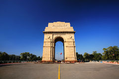 India Gate in New Delhi, India. In blue sky Royalty Free Stock Image