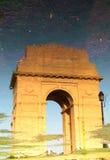 India Gate, New Delhi. Reflected image of India Gate, New Delhi Stock Images