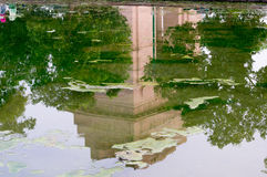 India gate reflected in a pool of water Stock Image
