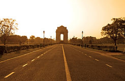 India Gate in sunset, Delhi, India Stock Photo