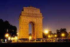 India Gate war memorial in New Delhi, India. Stock Photos