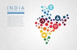 India gestippelde vectorachtergrond Stock Fotografie