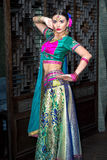 India girl. Beautiful woman india beauty girl traditional dress royalty free stock photography
