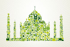 India go green concept illustration Stock Photos