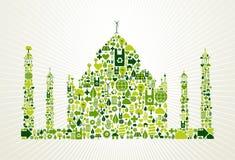 India go green concept illustration Stock Photos