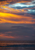 India, Goa . Amazing , world-famous Sunset on the Beach Colva . Stock Photography