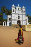 India - Goa - Anjuna. The main church Stock Image