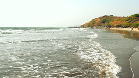 India Goa beach Seaside panorama view. stock footage
