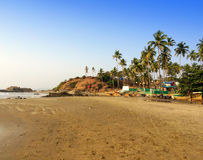 India. Goa. Beaches of the North of Goa. Stock Photo