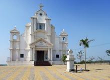 India. Goa. Catholic church at hill top Stock Photos
