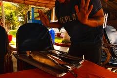 India Goa Fish. Coocking chef cafe cafe Stock Image
