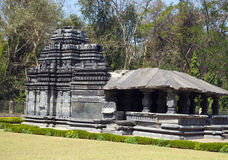 India. Goa. The only remained Mahadev temple the XIII century in Tambdi Surla. Royalty Free Stock Photos