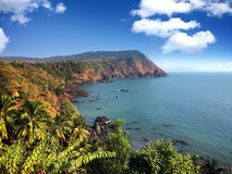 India. Goa. Sea landscape. India. Goa. Sea landscape in a sunny day Royalty Free Stock Photo