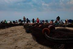 India Goa Sein. India Goa Fish fisher sein fishers chain Stock Photos