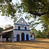 India. Goa. Small Catholic church in an ancient  Cabo de Rama fort. Stock Photo