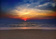 India. Goa. Sunset over the sea Stock Photo