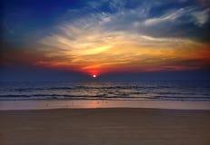 India. Goa. Sunset over the sea Stock Photo