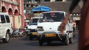 INDIA, GOA - 2012: Traffic in India stock video