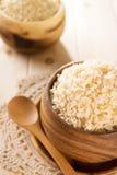 India gotował organicznie basmati brown ryż przygotowywających jeść zdjęcia royalty free