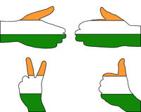 India hand signal Stock Images
