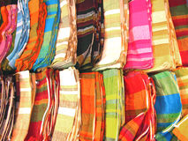 India-Handmade Cotton Bags. Colorful hand woven cotton bags made my indian workers Royalty Free Stock Images
