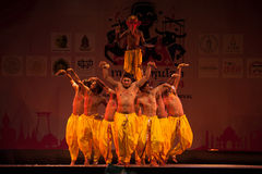 India Harmony Dance in Opening Ceremony in Harmony World Puppet. Royalty Free Stock Image
