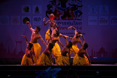 India Harmony Dance in Opening Ceremony in Harmony World Puppet carnival. Royalty Free Stock Images