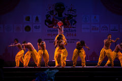 India Harmony Dance in Opening Ceremony in Harmony World Puppet carnival. Stock Photo