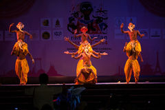 India Harmony Dance in Opening Ceremony in Harmony World Puppet carnival. Royalty Free Stock Image