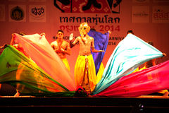 India Harmony Dance in Opening Ceremony in Harmony World Puppet carnival. Stock Photography
