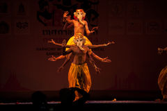India Harmony Dance in Opening Ceremony in Harmony World Puppet carnival. Stock Images