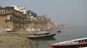 india Heliga Varanasi Royaltyfri Bild