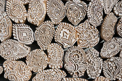 India, Henna wooden stamps Stock Image