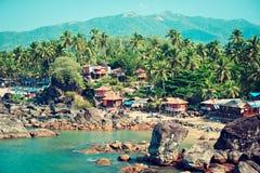 India Het Vulkanische Strand van Hawaï Stock Afbeelding