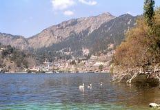 1977 India himalaya A monte-estação romântica em Nainital Fotos de Stock