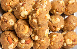 India homemade sweet dry fruits laddoo stock photo