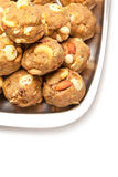 India homemade sweet dry fruits laddoo royalty free stock images