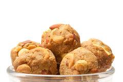 India homemade sweet dry fruits laddoo in glass bowl Stock Images