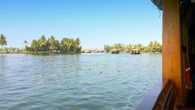 India. Houseboat on Kerala backwaters stock video